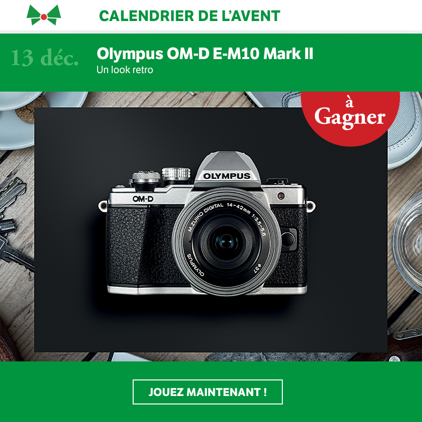 calendrier de l 39 avent jour 13 un olympus om d e m10 mark ii gagner lausanne cit s. Black Bedroom Furniture Sets. Home Design Ideas