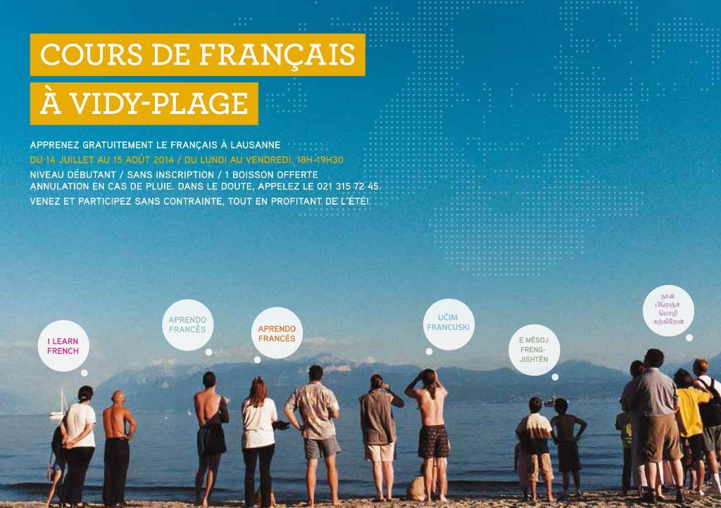 Apprendre le français lausanne cités