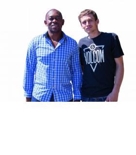 Badile Lubamba et Andy Peroset, quelques jours avant le départ de ce dernier. dr