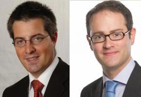 Pierre-Antoine Hildbrand et Mathieu Blanc, deux jeunes loups du PLR à l'assaut de la Municipalité. DR