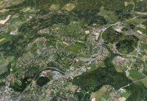La route cantonale 601, un dossier qui traîne depuis 6 ans. GOOGLEEARTH