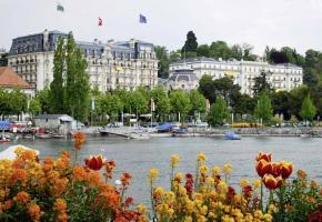 L'Hôtel Beau-Rivage à Ouchy, une des valeurs sûres de l'hôtellerie de luxe romande.