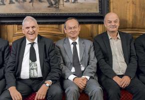 Marc Vuilleumier, Daniel Brélaz et Olivier Français quittent la Municipalité. dr