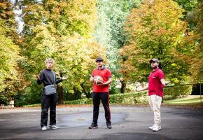 Nabil, Astrit et Nvar, sont membres de l'association Club des jeunes créée à Chavannes cet été.