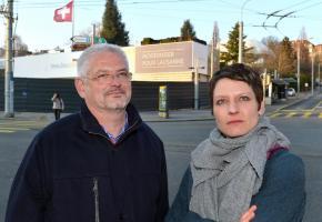 """Laurent Marmier et Christine Theumann, les deux vice-présidents du référendaire anti-Taoua ne se considèrent pas comme des """"Neinsager"""". Valdemar VERISSIMO"""