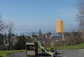 La tout de Toua vue du Parc de la Rouvraie. PHOTOMONTAGE / DR