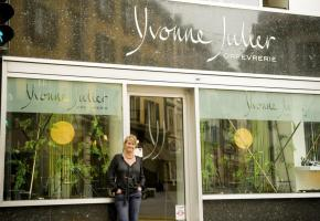 1er prix : Yvonne Julier Orfèvrerie, rue Neuve 11, (bijoux)