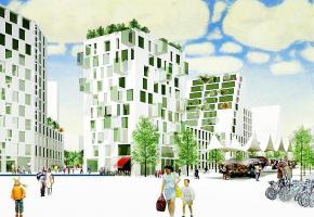 Le futur quartier va accueillir quelque 10'000 personnes à l'horizon 2030. photomontage/dr