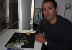 Juan Caido, le nouveau prêteur-sur-gage de Lausanne. kottelat