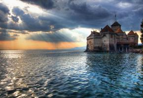 Le château de Chillon, l'un des sites les plus courus de Suisse. DR
