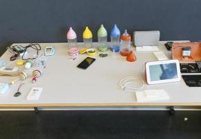 Les trois objets créés par les étudiants lausannois.  EPFL Alain Herzog.