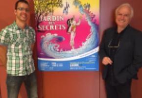 L'affiche du spectacle a été réalisée par Luguy (à gauche) quii pose ici avec le nouveau metteur en scène Stefan Hort. DR