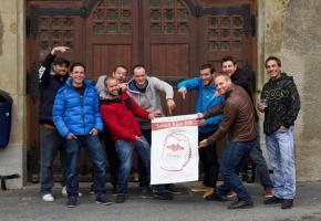 Les membres du comité (presque) au complet de RISK Association, organisateur de FestiPiousse . MISSON.