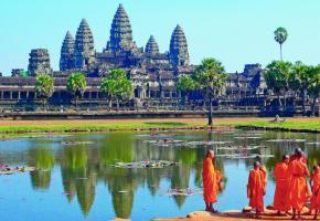Classé au patrimoine mondial de l'Unesco, le temple d'Angkor Vat (ou Angkor Wat) est le plus grand des temples d'Angkor. DR