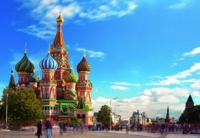 La cathédrale Saint-Basile à Moscou.