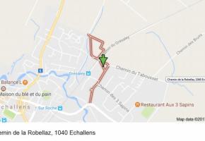 Le trafic au chemin de la Robellaz, à Echallens. DR