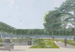 L'entrée du futur parking, image de synthèse. dr