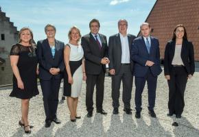 Le nouveau Gouvernement vaudois pour la législature 2017-2022. jean-bernard sieber / arc