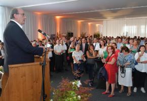 Discours de Jacky Delapierre, président de la fête. VERISSIMO