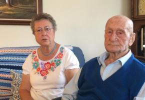 Rodolphe Buxcel  en compagnie de sa fille Erika. OLIVIER GRIVAT