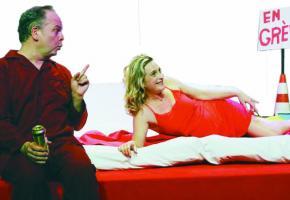 Un extrait de la pièce de théâtre «La Grève du sexe» de Joachim Desmoines . DR