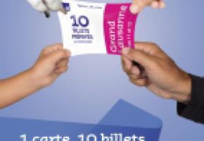 La plaquette publicitaire des tl, au lancement des cartes prépayées. DR