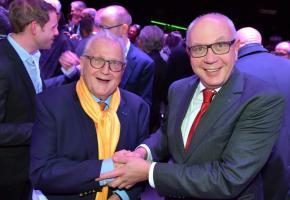 Pierre Keller, président honoraire et Michel Rochat, président de l'OVV. VERISSIMO