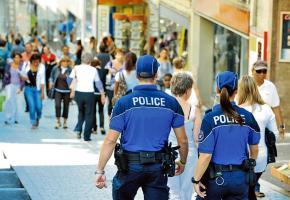 La présence policière renforcée dans les rues de la ville a contribué à ces bons chiffres. DR