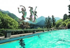 Six piscines et lacs aménagés pour la baignade: idéal après une journée de promenade. JB BIEUVILLE