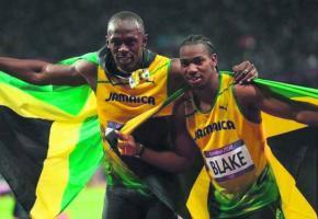 Usain Bolt et Yohan Blake, deux des vedettes qui seront à Athletissima cette année.
