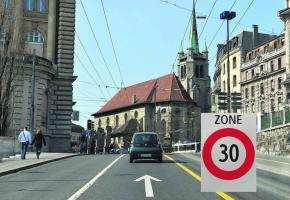 Le PS lausannois souhaite généraliser les 30km/h partout au centre-ville.