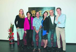 Les 5 médecins du nouveau centre avec à droite, le fondateur, le Dr Massimo Fumagalli.