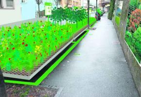 Le projet «Places de parcs» comprendra des extraits de parcs publics qui seront transposés sur des places de parking.