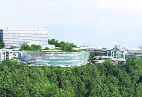 Le nouveau bâtiment sera parfaitement intégré sur le site du CHUV.