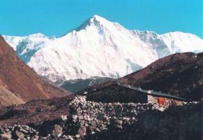 Le Cho Oyou, le géant himalayen où Olivier Racine a sauvé une vie.