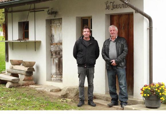 Pascal Desmeules, caissier de l'association, et Claude-Yvan Jordan, président.