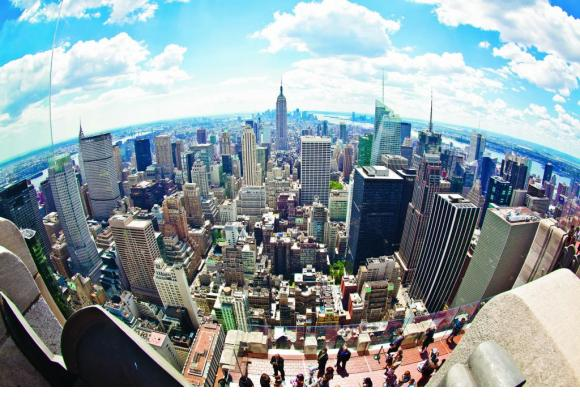 Le sud de Manhattan vu du sommet du «Top of the Rock» du Rockfeller Center.