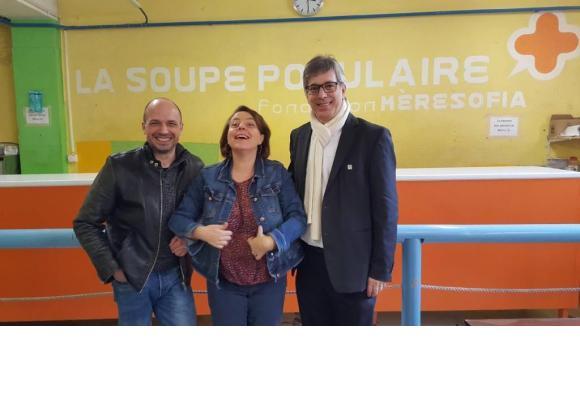 Satisfaction de circonstance pour les représentants de la Fondation Mère Sofia et de la Ville de Lausanne. De gauche à droite Yan Desarzens, Ada Mara et le municipal Oscar Tosato. DR