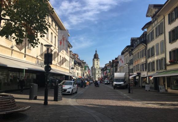 Le commerce du centre-ville de Morges, objet de toutes les attentions. dr