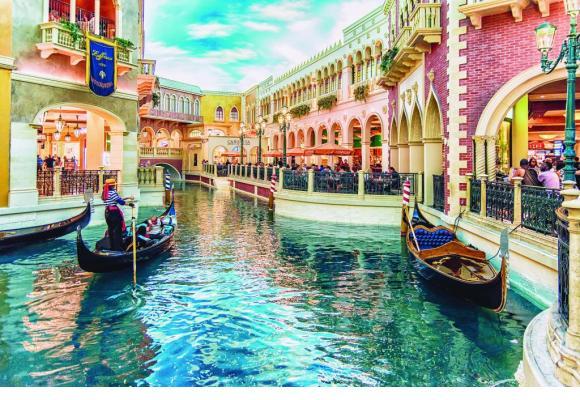 Le «Venetian» de Macao comprend un labyrinthe de canaux et une place St-Marc sous un ciel artificiel. BP