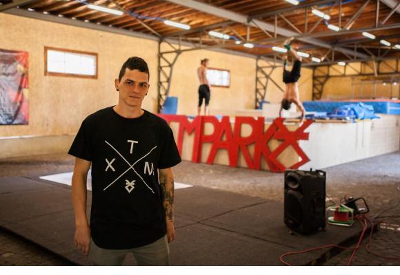 Kevin Crupi, président de l'association Xtrem Move, et responsable du projet. PHOTO MISSON