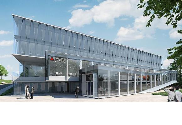 Le futur nouveau siège de l'ECA dont la 1ère pierre a été posée le 18 septembre dernier. DR/PHOTOMONTAGE