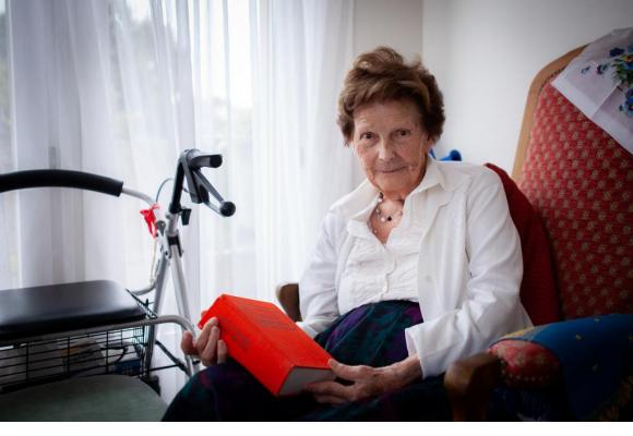Lucienne Dovat 100 ans depuis  le mois d'août.