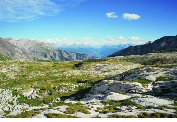 Le Sanetsch, c'est aussi le glacier de Tsanfleuron dominé, ici, par l'Oldehore. DR