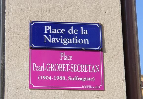 A Genève, et pour faire pression sur les autorités, des mouvements féministes n'ont pas hésité à apposer des plaques de rues «féminines». DR