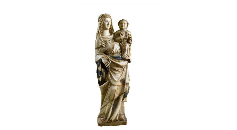 Taillée dans du marbre au 14e siècle, cette Vierge à l'enfant est exposée pour la première fois.