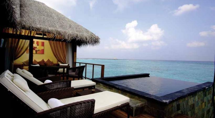 Terrasse sur l'océan Indien.