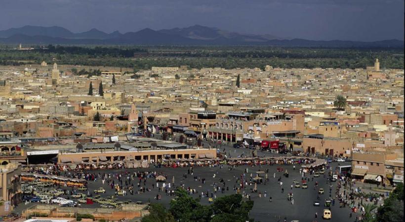 La place Jemaa el Fna à Marrakech.