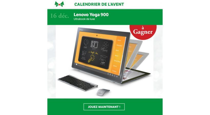 Calendrier de L'Avent / Jour 16: Un Lenovo Yoga 900 à gagner