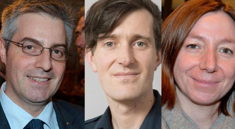 David Payot, Natacha Litzistorf et Pierre-Antoine Hildbrand entrent à la Municipalité le 1er juillet prochain.